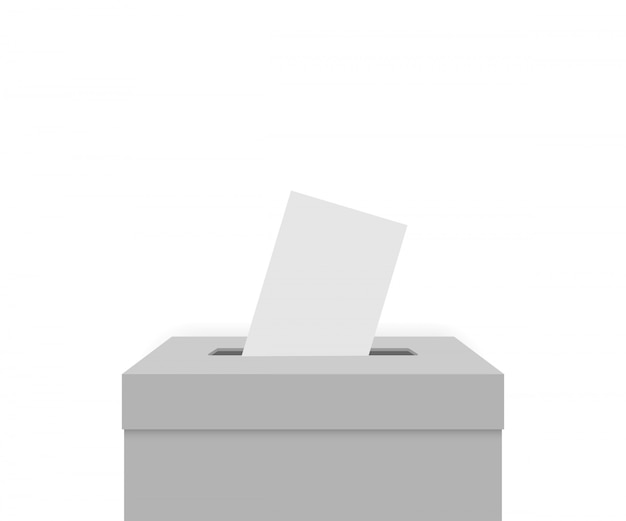 White election box Premium Vector