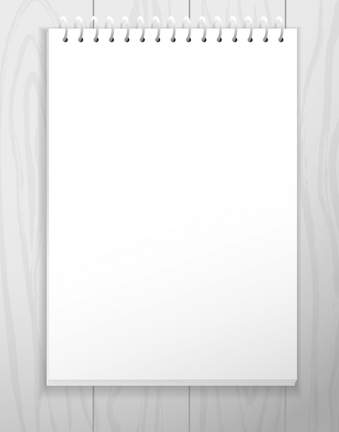 White empty paper sheet from notebook Premium Vector