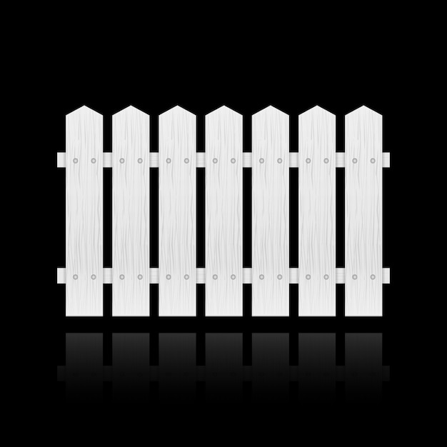White fence tile Free Vector