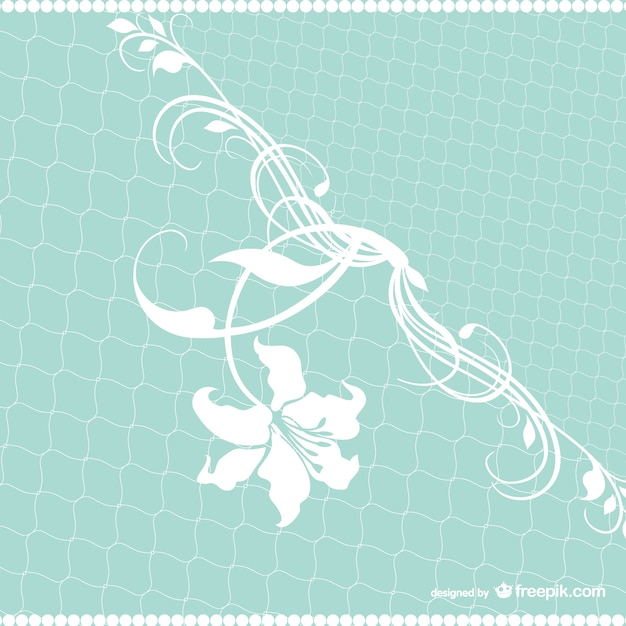 White flower and turquoise background