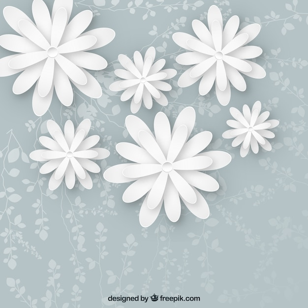 White flowers background vector free download white flowers background free vector mightylinksfo