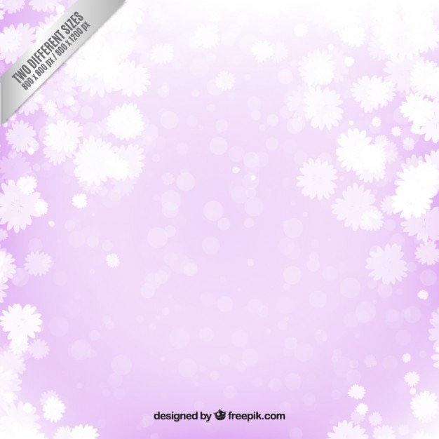 White Flowers On Purple Background Vector Free Download