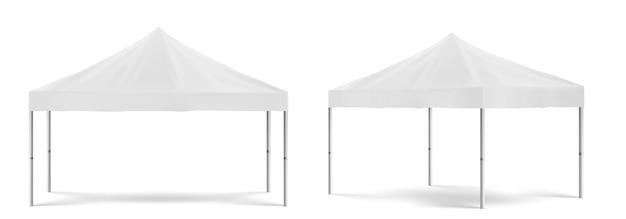 흰색 접이식 승진 텐트 무료 벡터