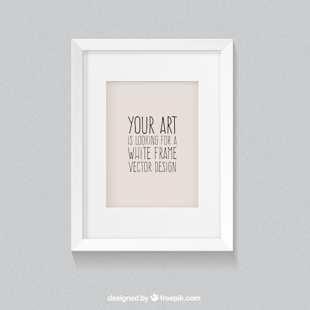 White frame in realistic style Vector | Free Download