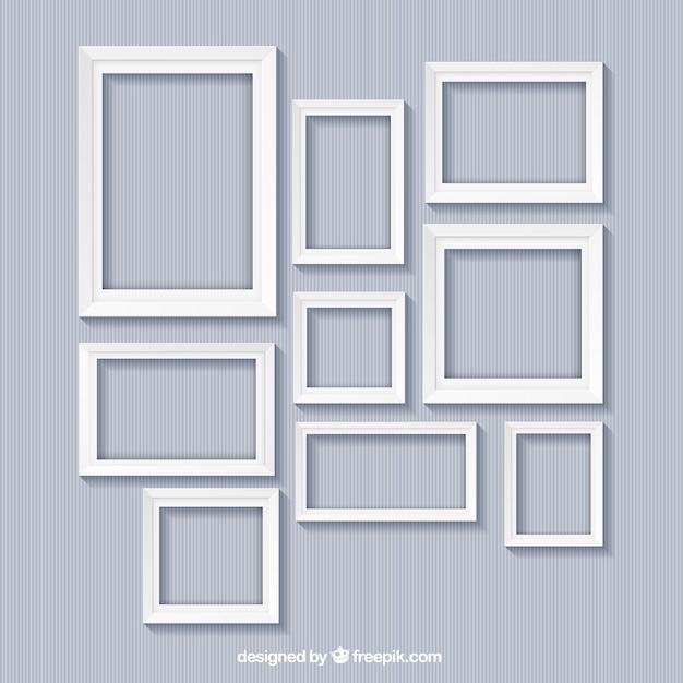 White frames collection Free Vector