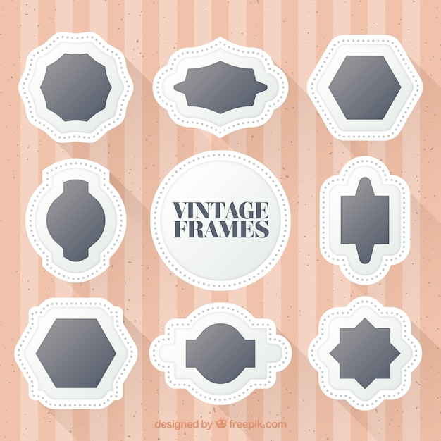White frames realistic style Free Vector
