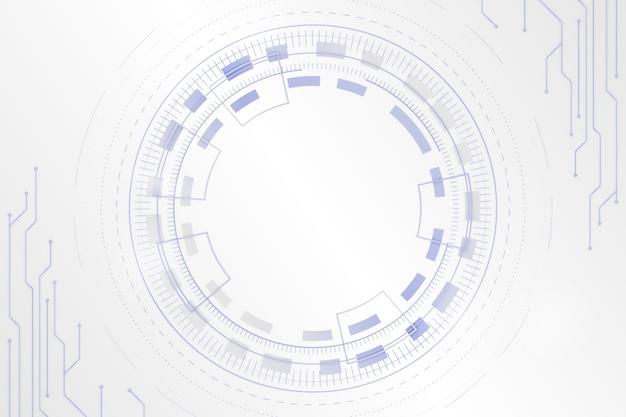 White futuristic background with digital eye Free Vector