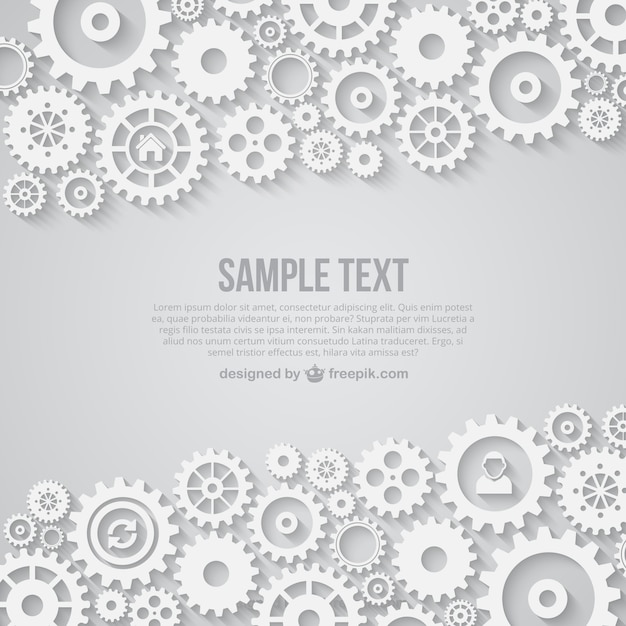 White gears background Free Vector