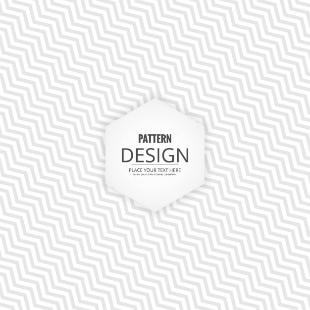 White Geometric Background With Zig Zag Lines