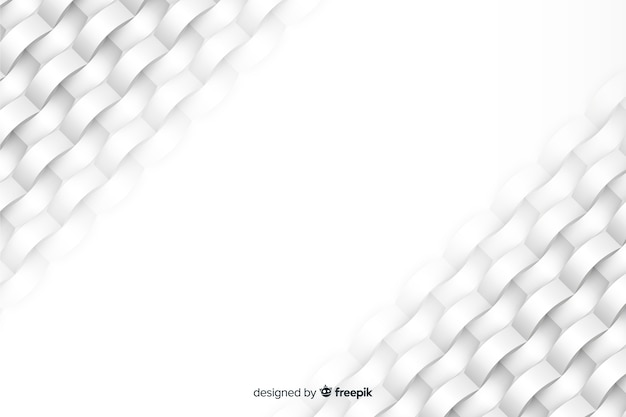White geometric shapes background in paper style Free Vector