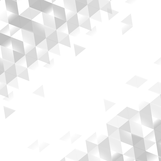 白い幾何学的背景 無料ベクター