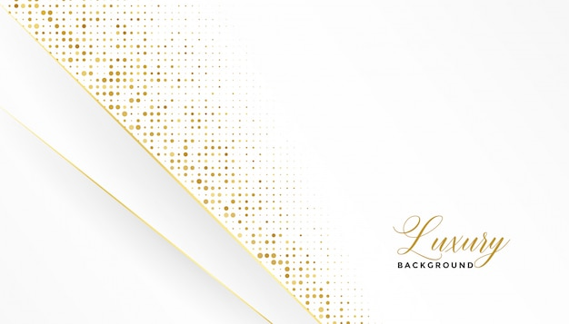 White and gold luxury background with glitter Free Vector