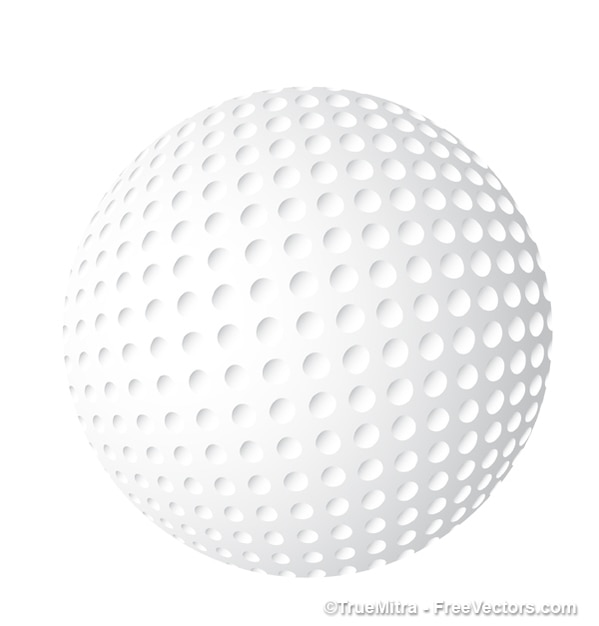 white golf ball icon vector free download