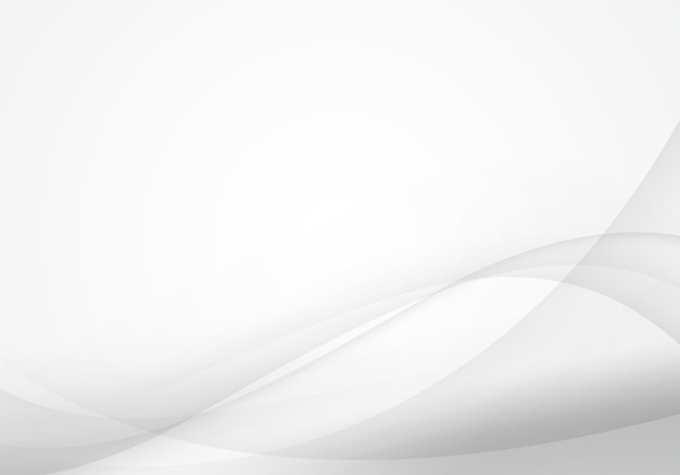 White and gray wave abstract background. soft design for graphic work Premium Vector