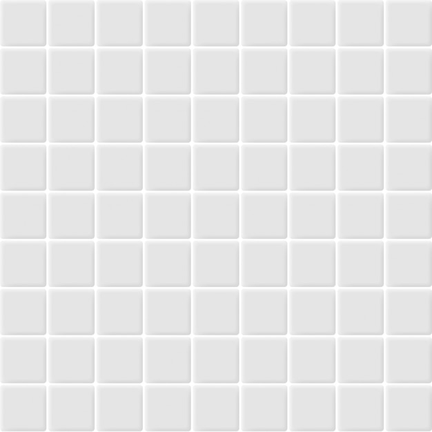 White and grey the ceramic mosaic tiles wall high resolution. brick seamless and texture interior clean background. Premium Vector