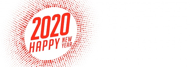 White happy new year creative banner Free Vector