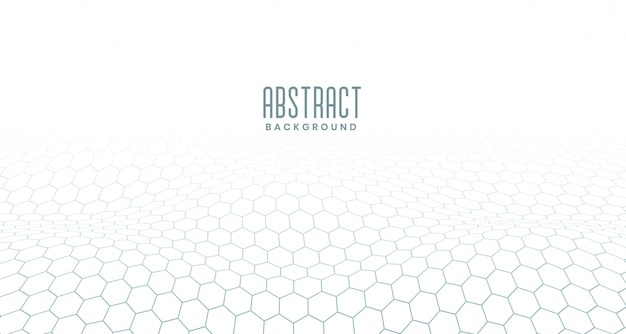 White hexagonal digital abstract background Free Vector