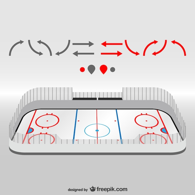 White hockey field Free Vector