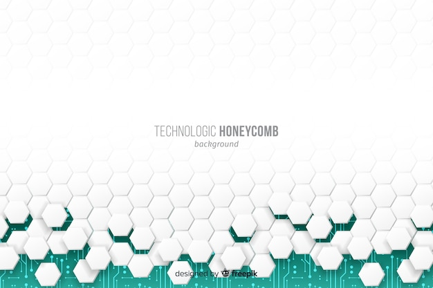 White honeycomb collapsing and revealing green background Free Vector