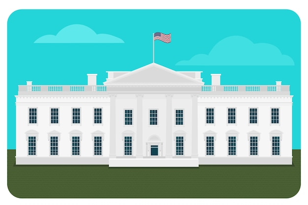 백악관 건물 그림 무료 벡터
