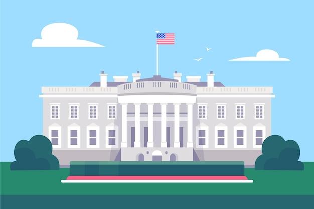 White house building illustration Free Vector