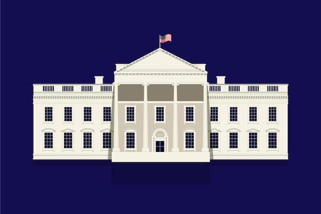 White house illustration Free Vector