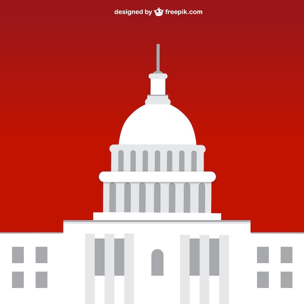 white house with red background vector free download rh freepik com White House Kitchen White House Swimming Pool