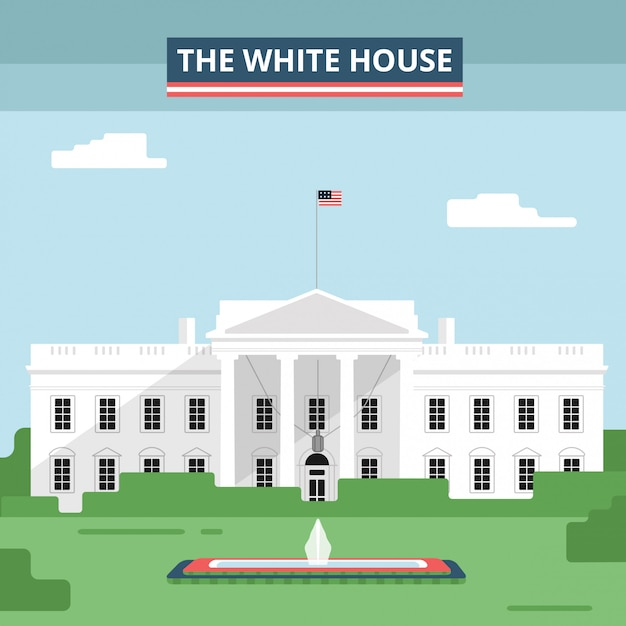 The white house Premium Vector
