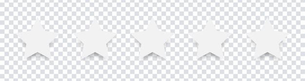 흰색 절연 5 별 프리미엄 벡터