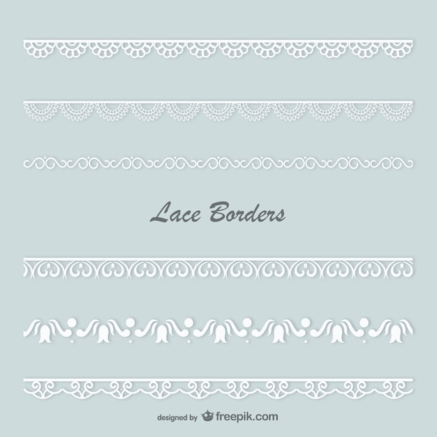 White lace borders Free Vector
