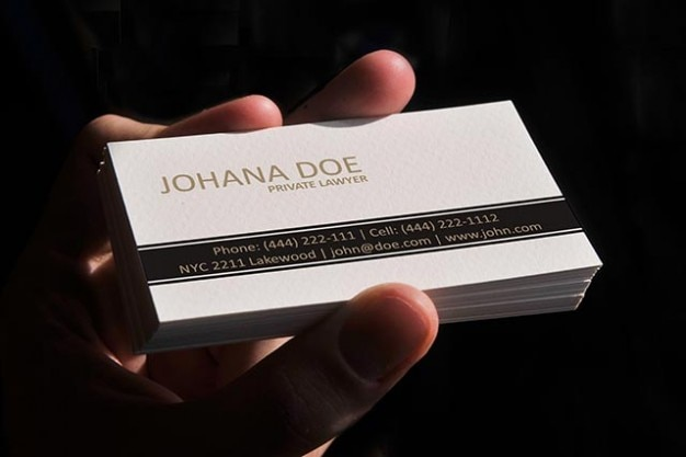 white lawyer business card template vector free download