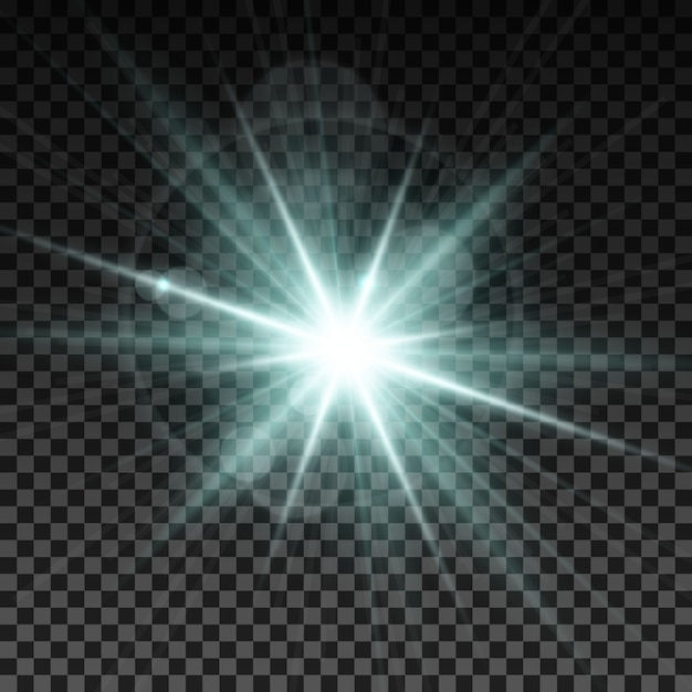 White light flash effect Free Vector