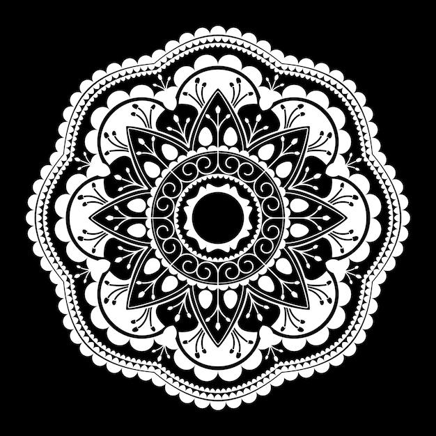 White mandala pattern on white background Free Vector
