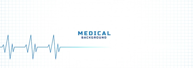 White medical and health care background with cardiogram line Free Vector