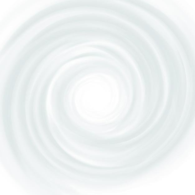 White milk, yogurt, cosmetics product swirl cream Premium Vector