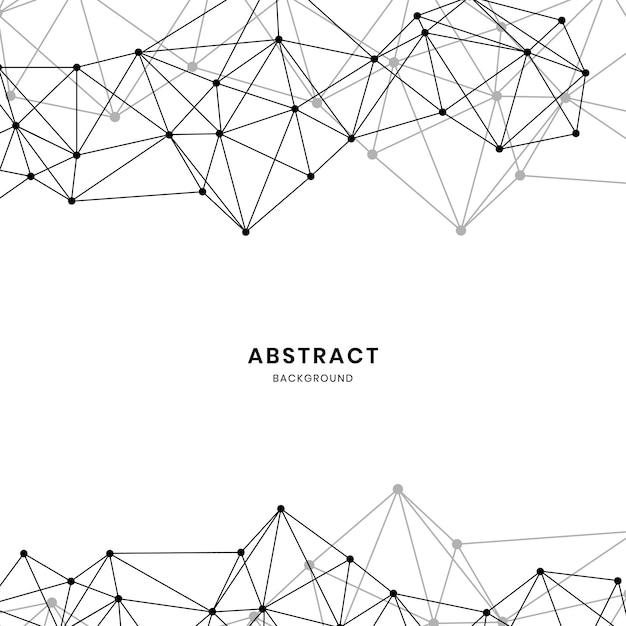 White neural network illustration Free Vector