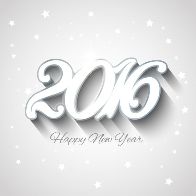 White new year 2016 background