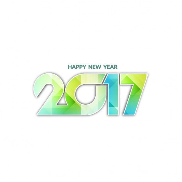 White new year 2017 background with geometric\ shapes