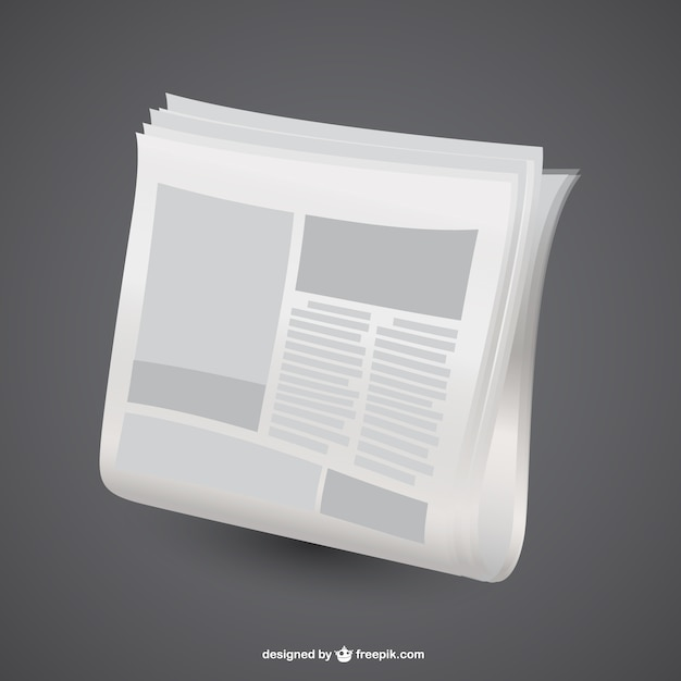 White newspaper Free Vector