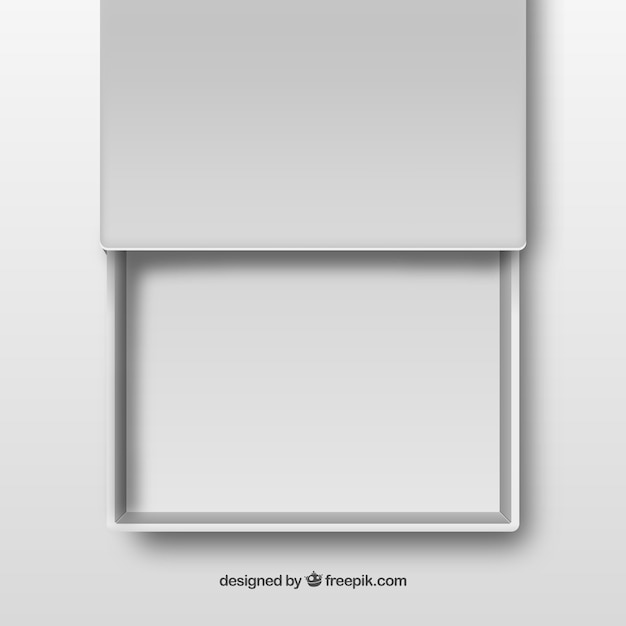 White open drawer Free Vector