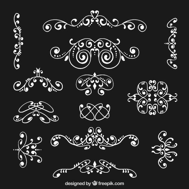 White ornamental decoration pack