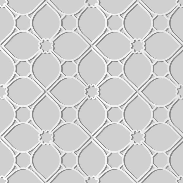 백서 아트 커브 크로스 프레임 플라워 라인, 웹 배너 인사말 카드에 대한 세련된 장식 패턴 배경 프리미엄 벡터