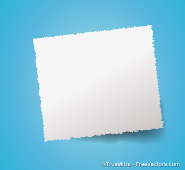 White paper banner on blue background Vector | Free Download