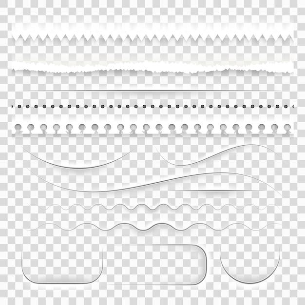ホワイトペーパーの装飾的な仕切り。 Premiumベクター