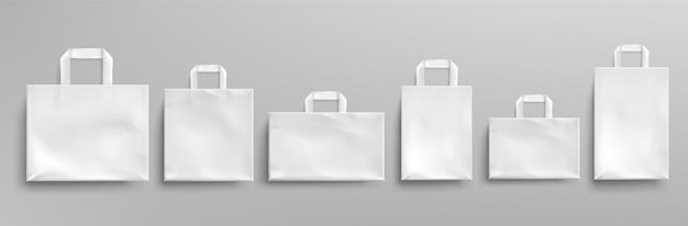 백서 에코 가방 다른 모양. 무료 벡터