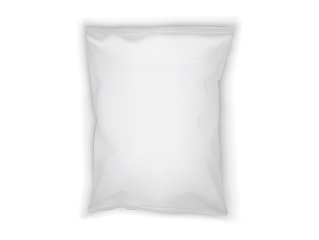 Белая бумажная упаковка изолирована Premium векторы