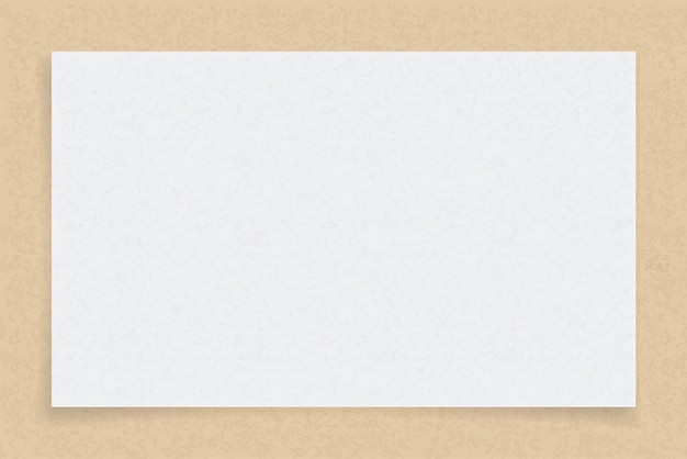 White paper sheet on brown paper background. Premium Vector