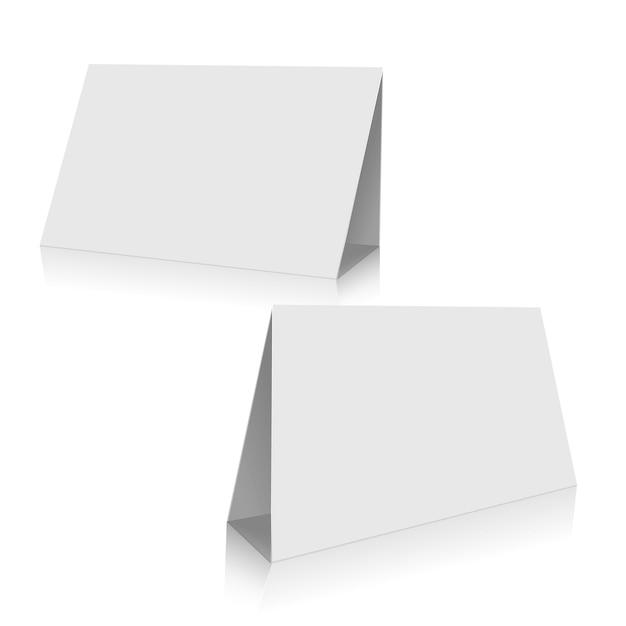 백지 스탠드 테이블 세트 무료 벡터