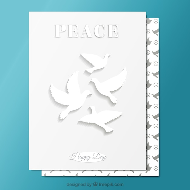 White peace card vector free download white peace card free vector m4hsunfo