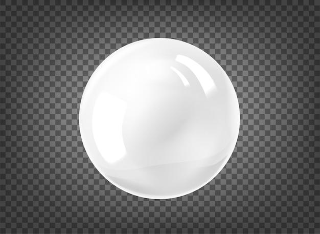 White pearl on black background Premium Vector